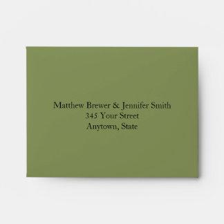 Sage Green Custom Envelope w/ Pre-Printed Address