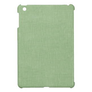Sage Green Faux Linen Fabric Textured Background iPad Mini Case