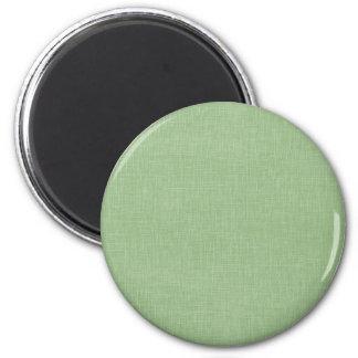 Sage Green Faux Linen Fabric Textured Background Fridge Magnet