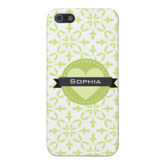 Sage Green Floral Pattern Cover For iPhone SE/5/5s