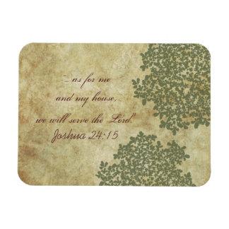 Sage Green Floral Vintage Rectangular Photo Magnet