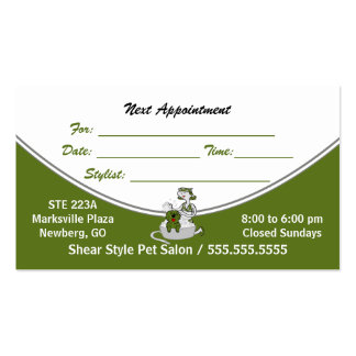 Sage Green Get Your Groom On Appoinment Custom Business Card