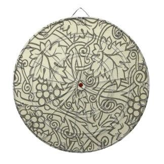 Sage Green Grapevile William Morris Pattern Dartboard With Darts