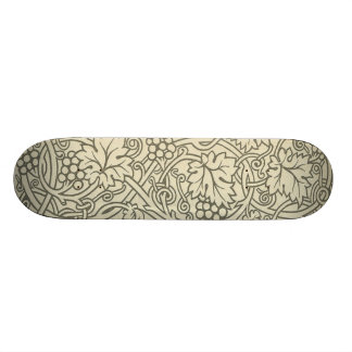 Sage Green Grapevile William Morris Pattern Skateboard Deck