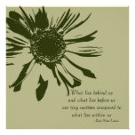 Sage Green Inspirational Floral Poster