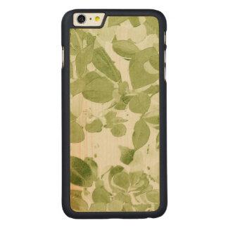 Sage Green Leaf Pattern, Vintage Inspired Carved® Maple iPhone 6 Plus Slim Case