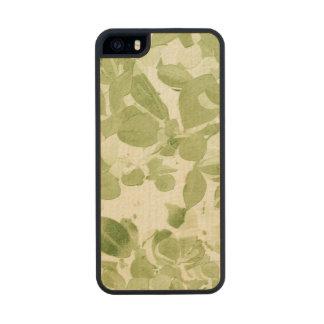 Sage Green Leaf Pattern, Vintage Inspired Wood iPhone SE/5/5s Case