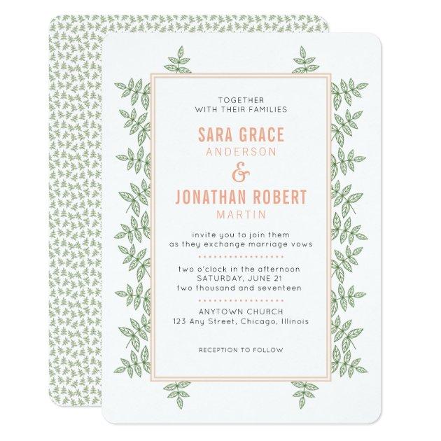 coral wedding invitations & announcements   zazzle, Wedding invitations