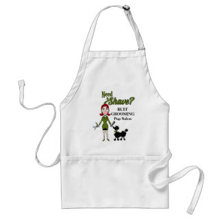 Sage Green Need a Shave for the Pet Grooming Salon Adult Apron
