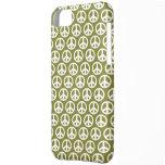 Sage Green peace symbol  iPhone 5 Case