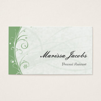 Sage Green Personal Assistant Business Card