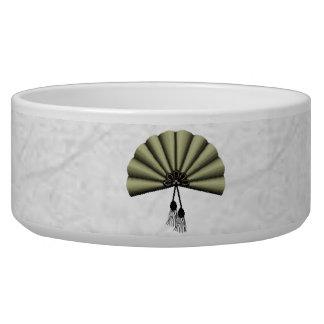 Sage Green Pixel Art Fan Bowl