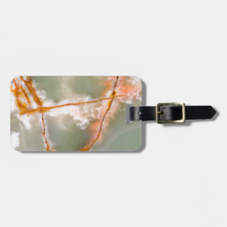 Sage Green Quartz with Rusty Veins Bag Tag