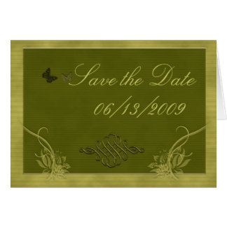 Sage green Save the Date Card