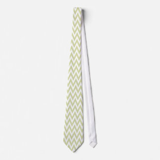 Sage Green Small Chevron Stripes Pattern Tie