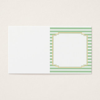Sage Green Stripe Bi-Fold Tag