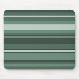 Sage green stripes mouse pad