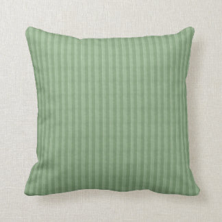 Sage Green Stripes Throw Pillow