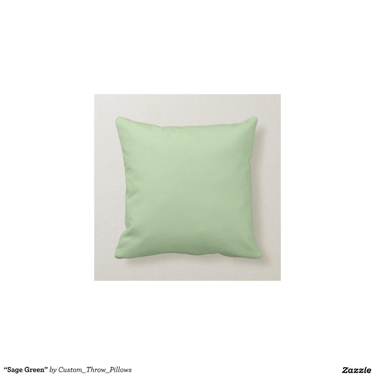 ?Sage Green? Throw Pillows Zazzle