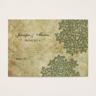 Sage Green Vintage Floral Seating Card