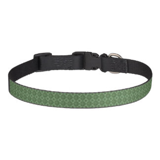 Sage Green Vintage Geometric Floral Pattern Pet Collar