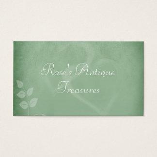 Sage Green Vintage Gift Shop Business Card