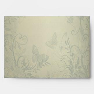 Sage Green Vintage Lace Wedding Envelope
