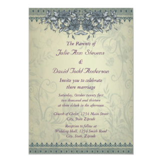 Sage Green Vintage Lace Wedding Announcements