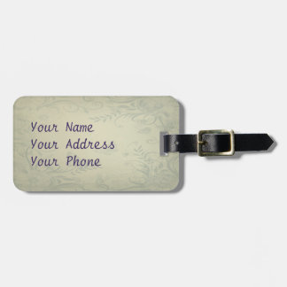 Sage Green Vintage Tag For Bags