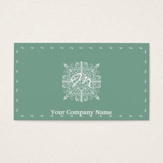 Sage Green Vintage Monogram Business Business Card