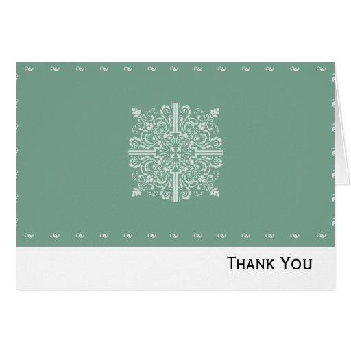 Sage Green Vintage Monogram Business Card
