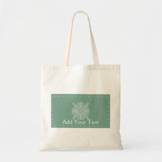 Sage Green Vintage Monogram Business Tote Bag