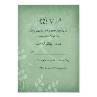 Sage Green Vintage RSVP 3.5x5 Paper Invitation Card