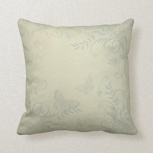 Sage Green Decorative Pillow : Sage Green Vintage Throw Pillow Zazzle