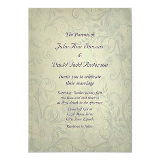 Sage Green Vintage Wedding Personalized Invitation