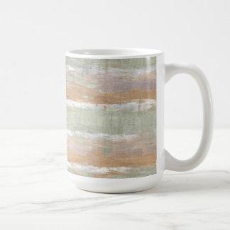 Sage Green Violet Orange White Watercolor Stripes Coffee Mug