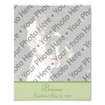 Sage Green Wedding Photo Prints with Custom Text Photo