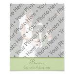 Sage Green Wedding Photo Prints with Custom Text Photo