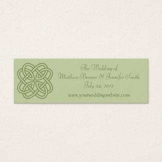 Sage Green Wedding Website Information Cards