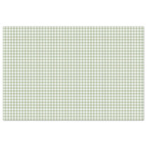 Sage Green & White Gingham Pattern Tissue Paper