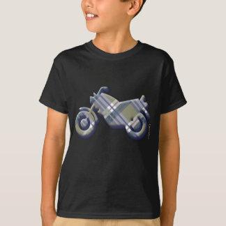 Sage & Grey Checks on Leather Texture T-Shirt