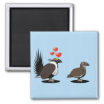 Sage Grouse Love 2 Inch Square Magnet