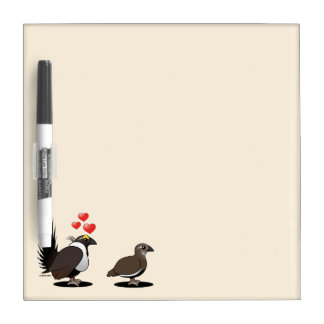 Sage Grouse Love Dry-Erase Board