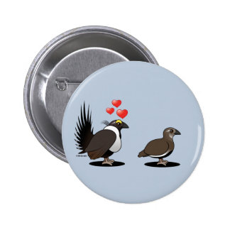 Sage Grouse Love Pinback Button