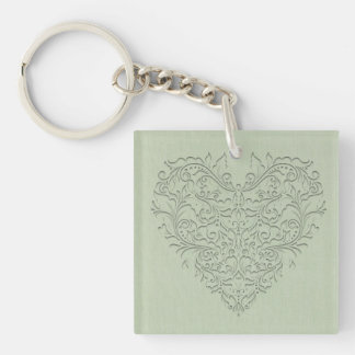 Sage HeartyChic Acrylic Key Chain