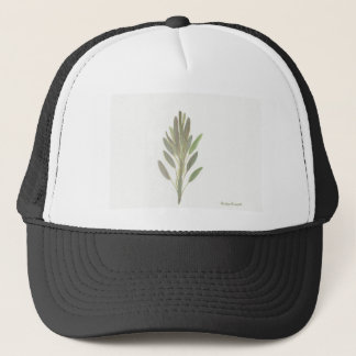 Sage herb botanical plant art print trucker hat