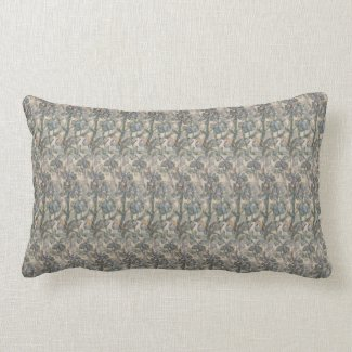 Sage Herbal Small Print Lumbar Pillow