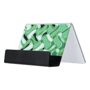 Professional Business Sage & Ivory Desk Business Card Holder