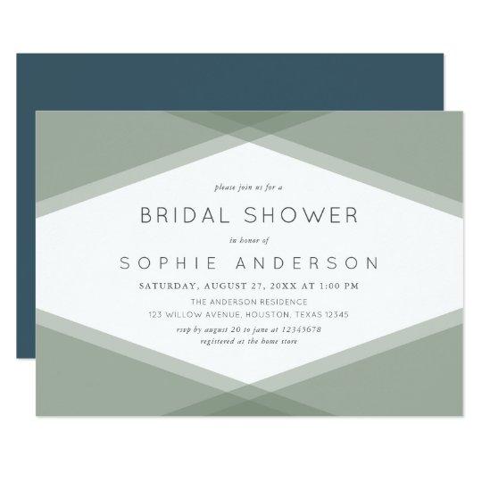 3c02063e817e Sage Layered Geometric   Blue Slate Bridal Shower Invitation ...