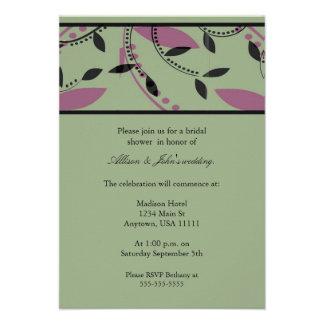 Sage Leaf Bridal Shower Invitation